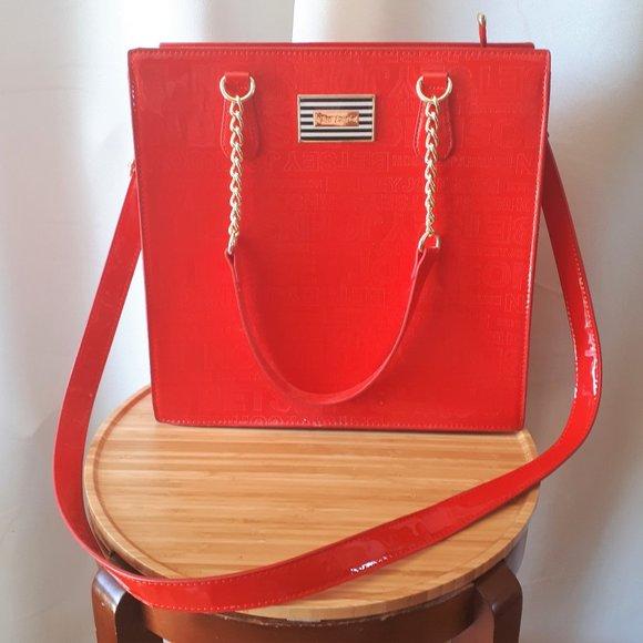 Betsey Johnson Large Red Bag Like New